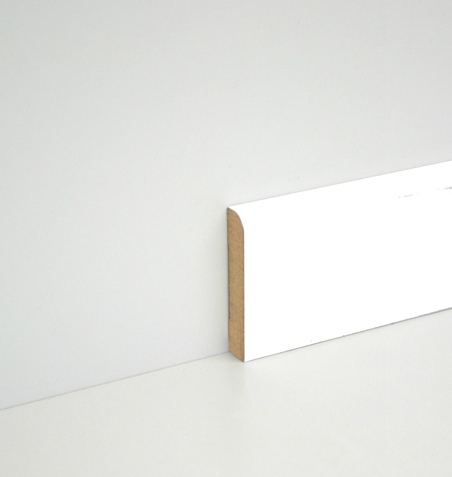 sockelleiste massiv wei lackiert 60mm gerundet. Black Bedroom Furniture Sets. Home Design Ideas