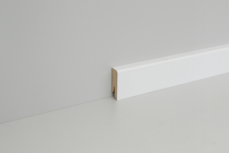 sockelleiste mdf wei 60mm gefast wei e leisten. Black Bedroom Furniture Sets. Home Design Ideas