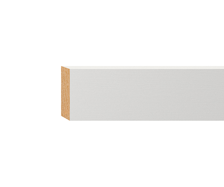 rechteckleiste massiv wei lackiert 20x40mm wei e. Black Bedroom Furniture Sets. Home Design Ideas