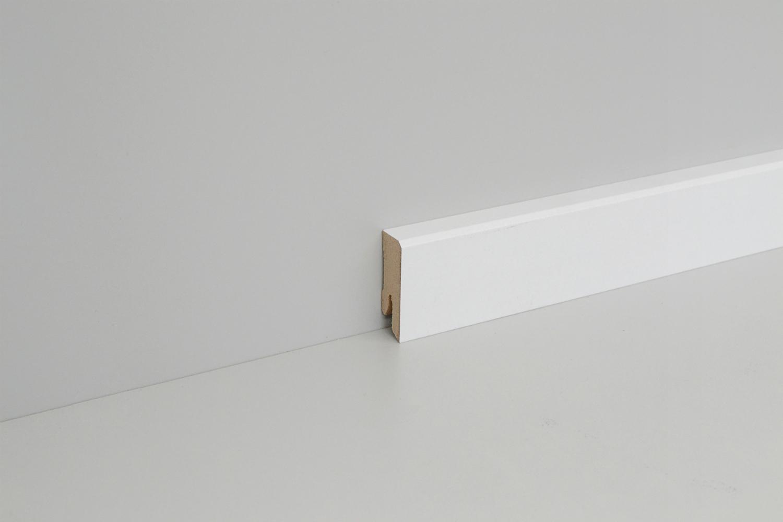 sockelleiste mdf wei 70mm gefast wei e leisten. Black Bedroom Furniture Sets. Home Design Ideas