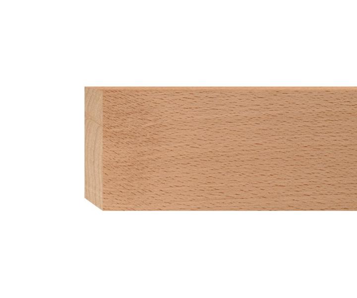 m3//1 1Stk in 40cm Rechteck Holzleiste Buche 14x80mm Rechteckleiste
